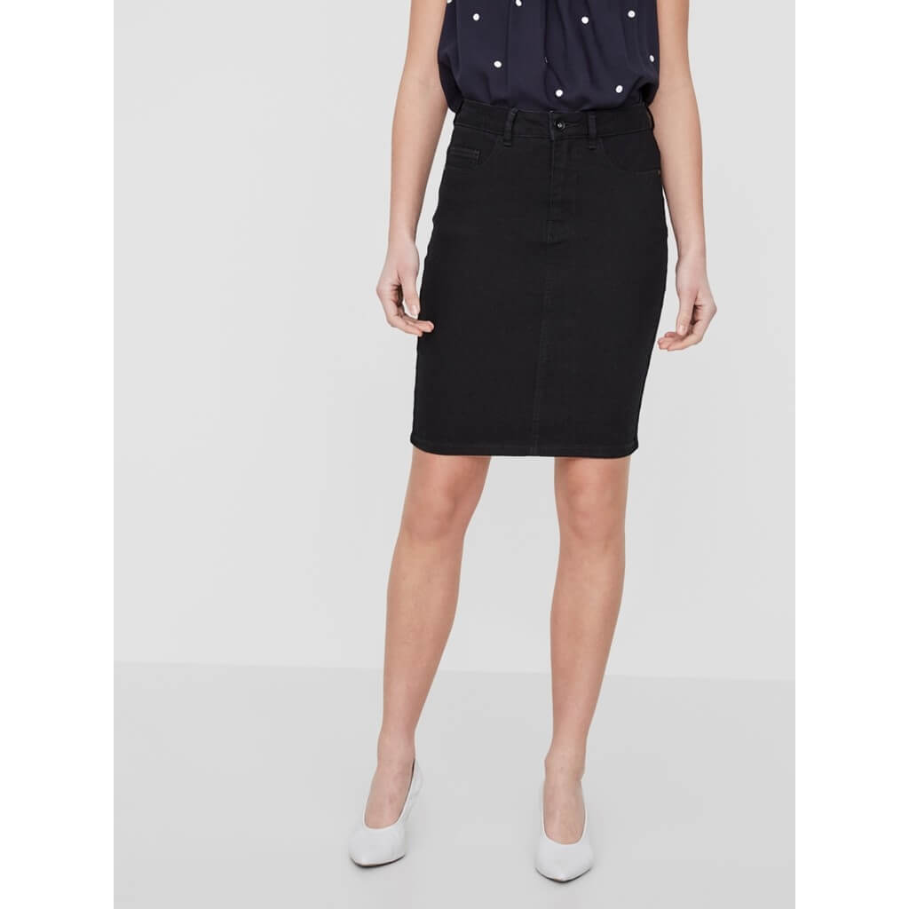 84e213512aa6 Vero Moda Dámská sukně Hot Nine Hw Dnm Pencil Skirt Mix Noos Black ...