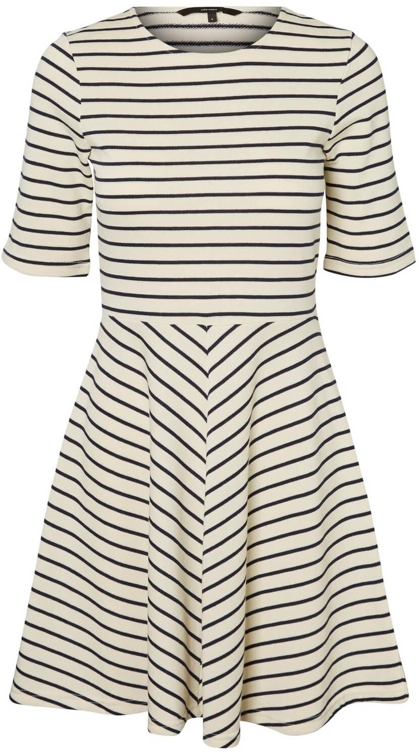 0f47a23024628 Vero Moda Dámske šaty Ula 2/4 Short Dress A Snow White Night Sky ...
