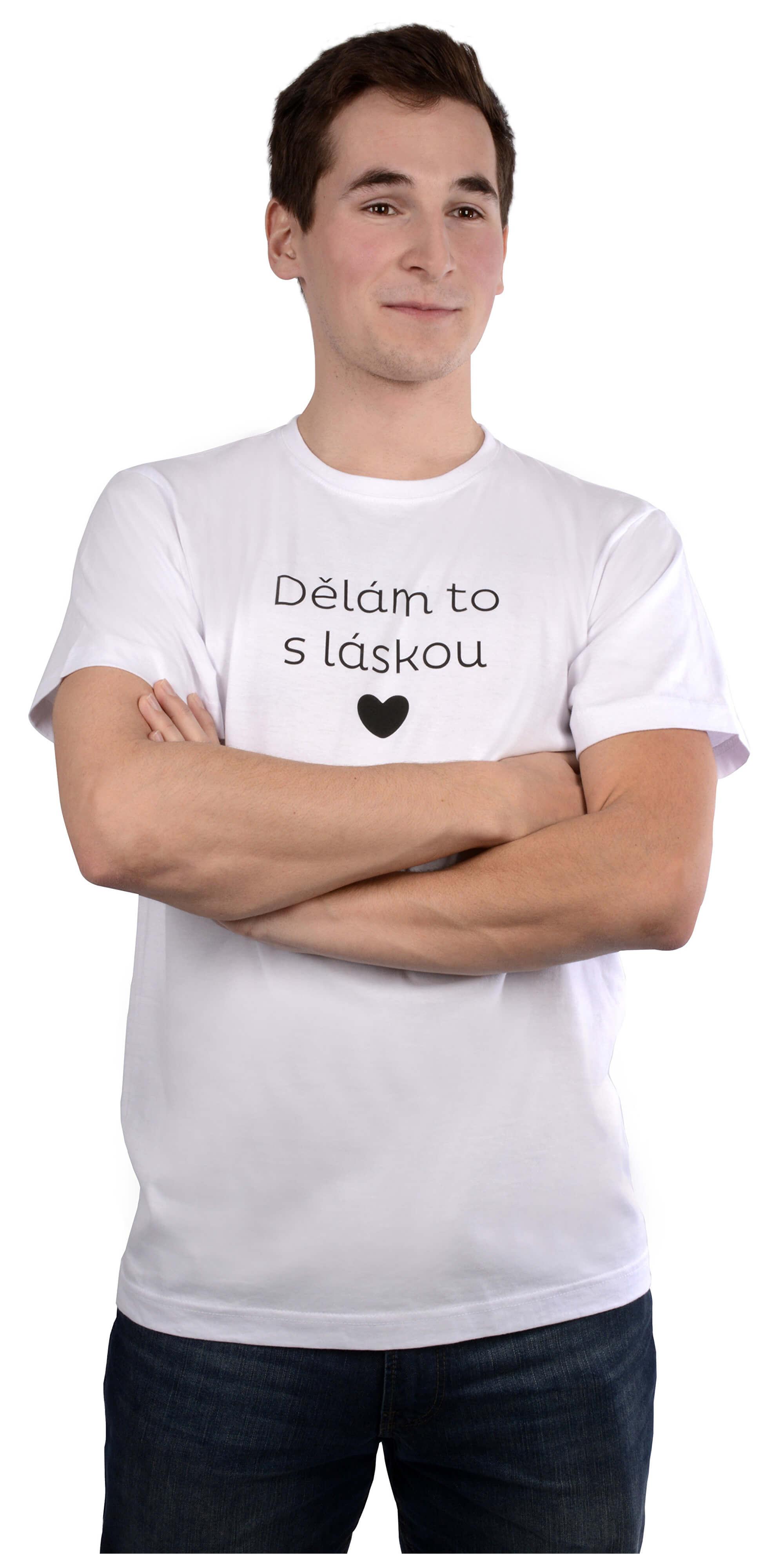 VIVANTIS Férfi fehér póló csinálom szeretettel  6f2f96e631