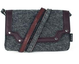 Dámská filcová crossbody kabelka Elegant - šedá tr15121.1