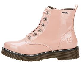 Dámské kožené kotníkové boty 431549325900-3400 Rose