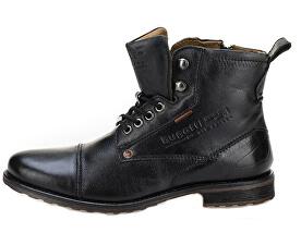 Pánske kožené členkové topánky 311386374000-1000 Black