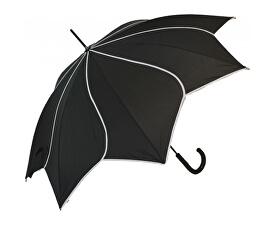 Dámský holový deštník Black Swirl EDSSWBL