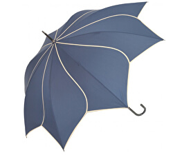 Dámský holový vystřelovací deštník Swirl Navy EDSSWN
