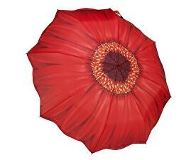 Dámský skládací plně automatický deštník Galleria Red Daisy Folding GFFRDN