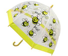 Dětský průhledný holový deštník Buggz Kids Stuff Happy Bee BUBEE