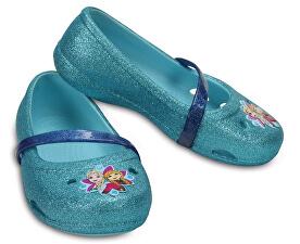 Crocs Dětské baleríny Crocs Lina Frozen Flat Ice Blue 204454-4O9 f1a68dc221