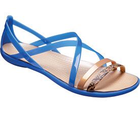 Crocs Dámske sandále Isabella Grph Strappy Sandal Blue Jean Gold 205084-4HT 16653af3d6