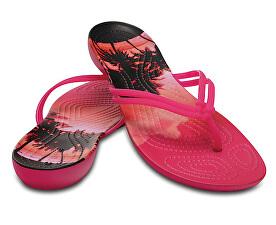 Crocs Dámské žabky Crocs Isabella Graphic Flip Candy Pink Tropical  204196-6JS 877ed00661