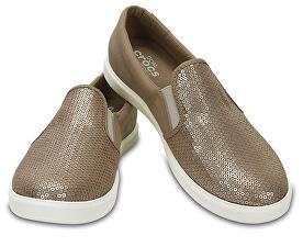 772519229e1 Crocs Dámské tenisky CitiLane Sequin Slip-on Gold 204285-710