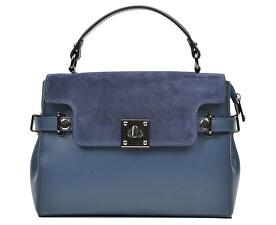 Kožená kabelka AW18C F3111 Blu scuro