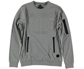 Pánska štýlová mikina Galle Grey 4352653