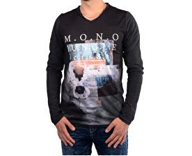 9c2aa4fa7e8 Cars Jeans Pánské černé tričko s potiskem Porzo Black 4597201