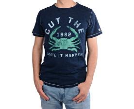 Pánske tmavo modré tričko s potlačou Rodrigo Indigo 4218211