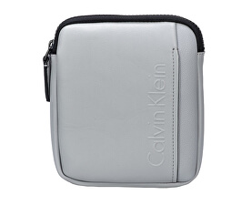 Geantă crossbody Elevated Logo Mini Flat Crossover Sleet Grey