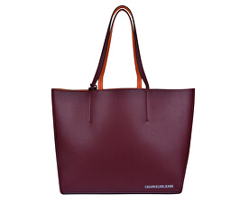 Femeie Ultra Light Reversible Tote Bag + Wristlet Zip Pouch - Wine