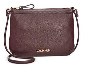 Elegantní crossbody kabelka Pebble Leather Crossbody Purple