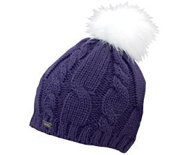 Zimní čepice s bambulí Purple 18413-A