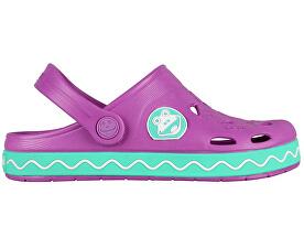 Coqui Dětské pantofle Froggy 8801 New purple mint 101970 efed60d6ad