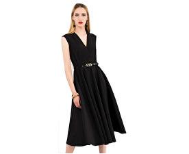 Dámské šaty Closet Flared Wrap Dress With Belt Black