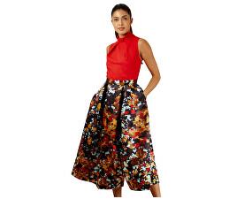 Dámské šaty Closet Gold Full Skirt Dress Red