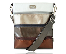 Crossbody kabelka Dariana middle No. 197 Metalic
