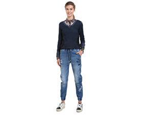 Desigual Dámské džíny Denim Jogger Lettering Denim Elec 18WWDD30 5061 c8b419271d1