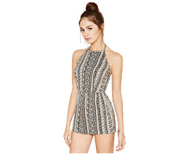 Dámský overal Abstract Print Halter Romper