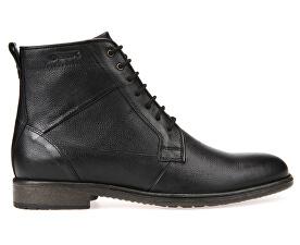 Pánské kožené boty Jaylon Black U74Y7C-00046-C9999