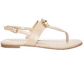 Dámske sandále Factory Women`s Darryl T- Strap Sandals Tan