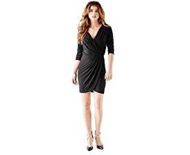 Dámské šaty Three - Quarter Sleeve Metallic Wrap Dress