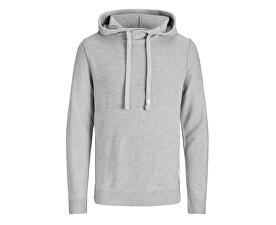 Pánská mikina Jorduberry Knit Hood Light Grey Melange