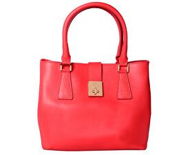 Dámská kožená kabelka Borsa Pelle S16B301-09-047 Coral Red