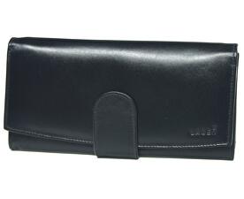 Dámská černá kožená peněženka Black 5152