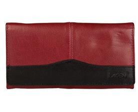 Lagen Dámská kožená peněženka Red Black PWL-367 89b8653ea2c