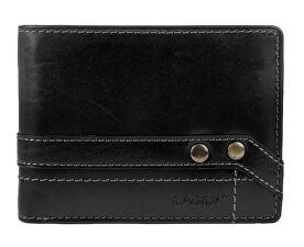 Kožená čierna pánska peňaženka 5103 W / T Black
