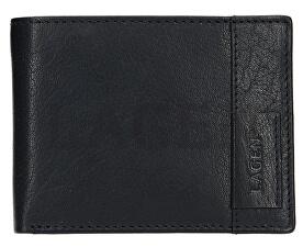 Piele černá portofel 9113 Black