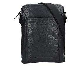 Lagen Kožená crossbody taška 24425 Black cde67e6701