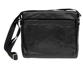 Kožená crossbody taška Black 20653