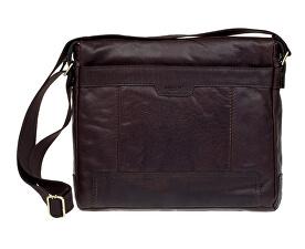 Kožená crossbody taška Dark Brown 20653