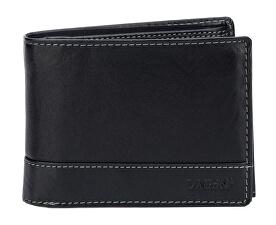 Pánska čierna kožená peňaženka Black V-76/T