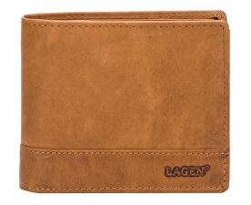 Pánska hnedá kožená peňaženka Brown V-76 / V