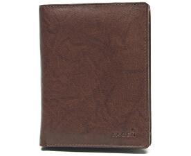 Pánska kožená hnedá peňaženka Brown V-2