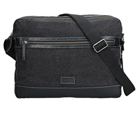 Pánska taška cez rameno 22406 BLACK/GREY