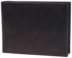 Pánská tmavě hnědá kožená peněženka Dark Brown V-75