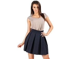 Skládaná modrá sukně 313