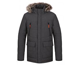 Pánská zimní bunda do města Tron Dk Melange šedá CLM1738-T49X