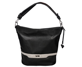 Elegantní kabelka Denise Black/Grey