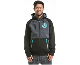 Mikina Twitch 2 Technical Hoodie A - Black/Charcoal Heather