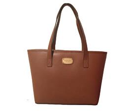 Elegantní kožená business kabelka Jet Set Saffiano Leather Tote Brown